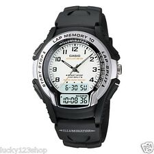 WS-300-7B White Black Casio Digital-Analog Men's Watch Detail 10 Lap Memory