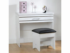 Seconique Jordan White & Silver Dressing Table and Stool - Modern Design