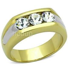 14K GOLD EP 2.0CT MENS DIAMOND SIMULATED DRESS RING sz 10 or T 1/2 other sizes