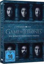 Neu Dvd Box Game of Thrones - Season 6 komplette Staffel 6 auf 5 DVDs