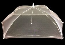 Extra LARGE Foldable Food Mesh Cover Fly Insect Procter Net Umbrella 125 x 65cm