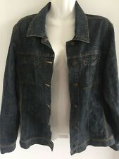 Denim Lightweight Womens Jacket Size 12 Like New