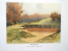 Northwood Golf Course Print Facsimile Of Original 1910 Harry Rountree