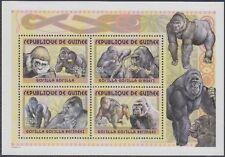 Guinea Mi.Nr. Block 682A Gorilla, postfrisch