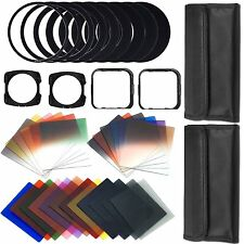 Pro 44 in1 Graduated Full Color ND Filter Set 49 52 58 62 77 Adapter For Cokin P