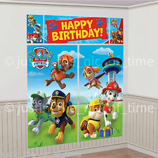 PAW PATROL Boys Girls Birthday Party Scene Setter Wall Decoration Photo Prop