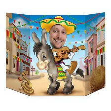 Mexican Style Donkey & Sombero Photo Prop - 94 cm - Fiesta Party Decoration
