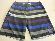 115 MENS NWOT EZEKIEL BLK / BLUE / GREY BOARDSHORTS 36 $80.
