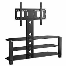 Cantilever Glass TV Stand with Bracket for 32 to 55 inches Plasma LCD TV