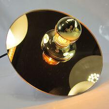 ORIGINAL 70er JAHRE WANDLAMPE GLAS SPIEGEL WANDLEUCHTE FLURLAMPE DISCUS LAMPE