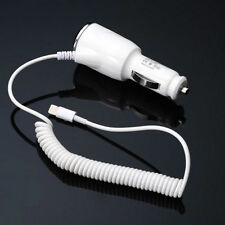 Car Charger Adapter 8 Pin Spring Cable For iPhone 5 5S 6 6S Plus iPad 4 Mini Air