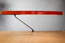 AEG Plan Leuchte Architekten Techniker Gelenkarm Lampe Orange Vintage 70er