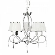 SEARCHLIGHT SIMPLICITY CLASSIC 5 LIGHT CEILING PENDANT LIGHT IN CHROME 1035-5CC