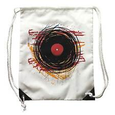 Backpack Dj Abstract Vinyl, Sport white, Disk Music, Record player