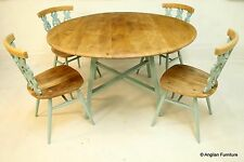 Ercol Retro Table & 4 Chairs Set Painted Waxed Contrast FREE Nationwide Delivery