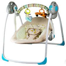 Elektrische Babywiege mit Schaukelfunktion Melodien Babyschaukel Trage Babysitz