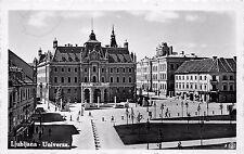 AK Ljubljana Univerza Echt Foto Postkarte