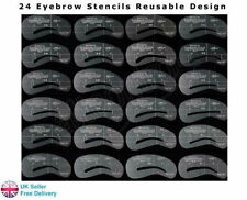24 Eyebrow Stencils Shaping Grooming Brow Make Up Set Template Reusable Design