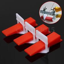 100x Keile +100xLaschen Nivelliersystem Verlegesystem Verlegehilfe Fliesen Neu