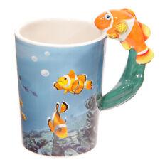 ♥ Kaffeebecher CLOWNFISCH Becher Tasse Kaffeetasse Henkeltasse Fisch NEU+OVP!