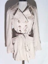 BOHO Forever New pink large button long sleeve trench coat size 10