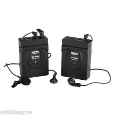 2.4GHz Wireless Lavalier Stereo Microphone Mic System for Canon EOS DSLR Camera
