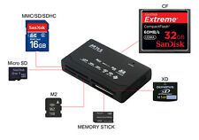 All In One External USB Memory Card Reader Writer For SD SDHC Mini Micro M2 XD