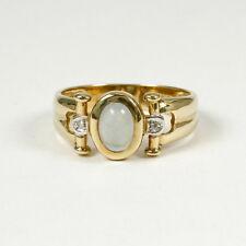 Eleganter Ring 585 Gelbgold, mit echtem Aquamarin und zwei Diamanten