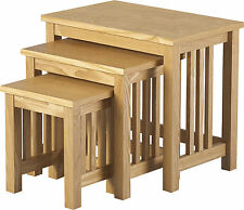 ASHMORE TRIO NEST OF TABLES IN ASH VENEER - FREE NEXT DAY DELIVERY