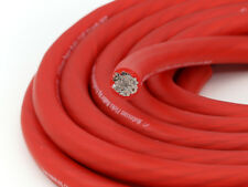 KnuKonceptz Kolossus Flex 1/0 Gauge Red OFC Power Wire Tinned Copper Cable 5M