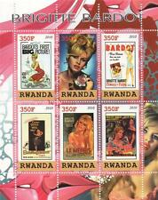 BRIGITTE BARDOT HOLLYWOOD LEGEND RWANDA 2010 MNH STAMP SHEETLET