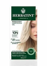 HERBATINT HERBAL NATURAL HAIR COLOUR DYE PLATINUM BLONDE 10N 120ml AMMONIA FREE