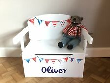 Boys Personalised Toy Box & Storage Desk (New) (RRP £125)