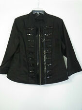 BN City Chic Ladies Black Zip Front  Lined Stretch  Jacket   Size: S