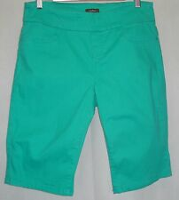 KATIES Ladies Classic Casual Green Ultimate Denim Cotton Summer Shorts Size 12