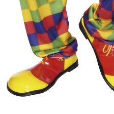 Halloween Adult Fancy Dress Clown Shoes New by Smifys
