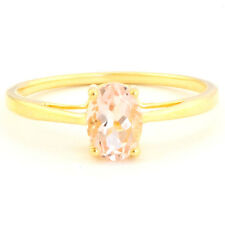 PINK MORGANITE NATURAL GEMSTONE RING IN 10 KT SOLID YELLOW GOLD #R3652