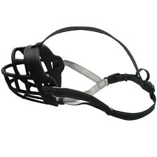 Black Basket Dog Muzzle for Biting Barking Adjustable Padded Soft Cage Muzzle
