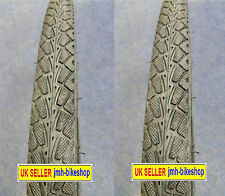 """PAIR of 26"""" road tyres and tubes for mountain bike presta valve (26x1.50)"""