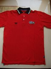 "CCC Canterbury Rugby Red Cotton ""World Rugby"" Polo Shirt, 44 Inch Chest."