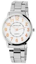 Herrenuhr Excellanc Herren Armbanduhr Weiß Edelstahl Gliederband 280322000028