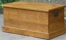 (any size made) SOLID WOOD BEDDING BLANKET TOY BOX CHEST SEAT RUSTIC PLANK PINE