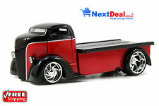 1947 Ford COE Flatbed Tow Truck Red/Black Jada 1:24 scale Diecast Model Car