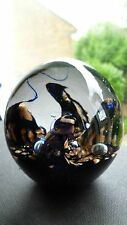 MURANO ART GLASS PAPERWEIGHT WITH COPPER INCLUSIONS