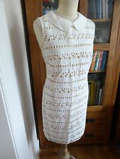 BNWT Hobbs NW3 Highgate Broderie Dress lace shift 10 NEW off white wedding summe