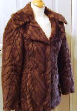 NEW LOOK ~ LONG SLEEVED FULLY LINED COLLARED FAUX FUR JACKET ~ SIZE 8