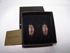 "HEIDI DAUS Couture Crystal Earrings ""Tantalizing Trio"" Antique Pink NIB (DS)"