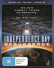 Independence Day - Resurgence 3D  (Blu-ray, 2016, 2-Disc Set)  NEW