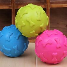 Pet Dog Dogs Squeaker Rubber Bone Ball Play Toys Chew Sound Silicon Toy Squeaky