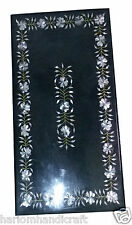 Size 3'x2' Marble Dining Table Top Abalone Stone Inlay Marquetry Home Decor H956